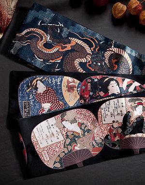 hanhaba obi 'ukiyo-e dragon'