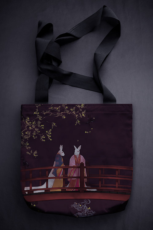 'maple and starlings' canvas bag