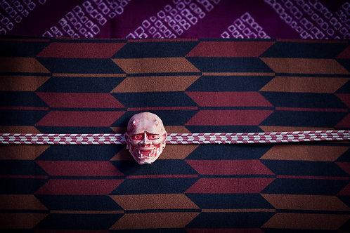 Ceramic obidome 'hannya mask'