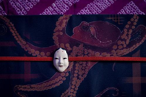 Ceramic obidome 'onna mask'