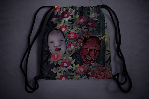 'hannya' drawstring backpack