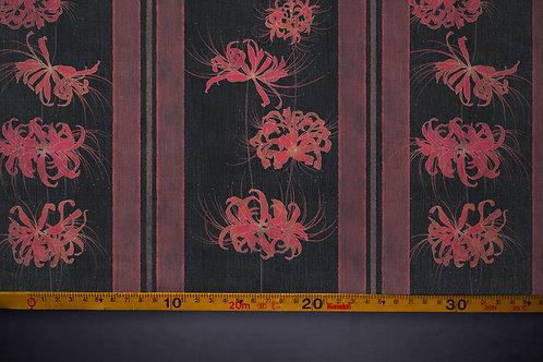 Printed denim / shirt fabric 'higanbana'