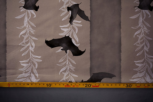 Printed fabric 'coffee bats'
