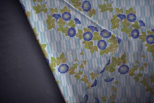 Printed fabric 'asagao'