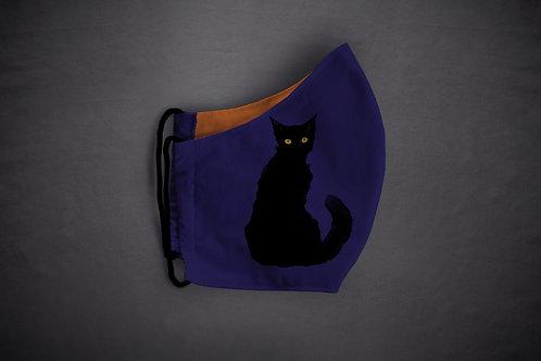 Face mask 'halloween cat'