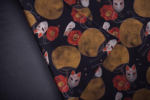 Printed fabric 'fox masks'