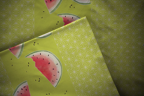 Printed fabric 'asanoha suika'