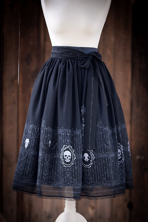 chiffon 'gate of bones' skirt