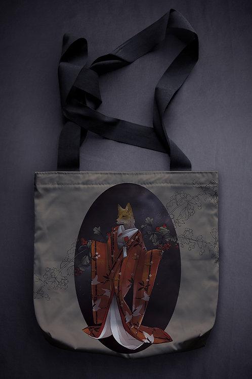 'fox bride' canvas bag