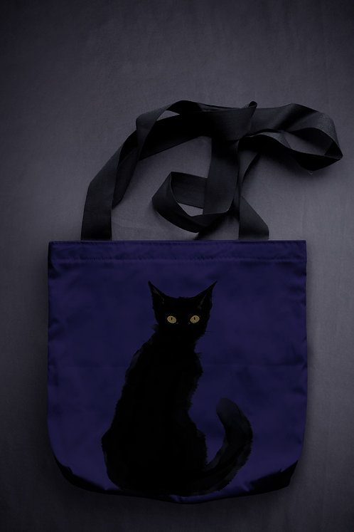 'halloween cat' canvas bag