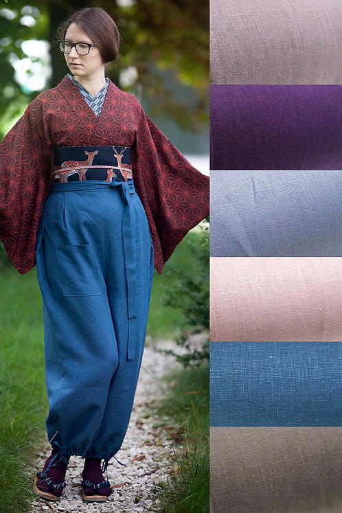 Linen monpe pants (many colors available)