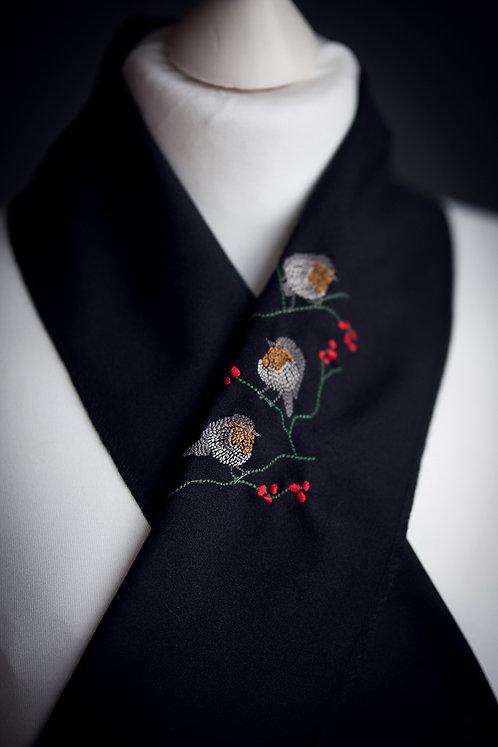 Embroidered haneri 'robin'