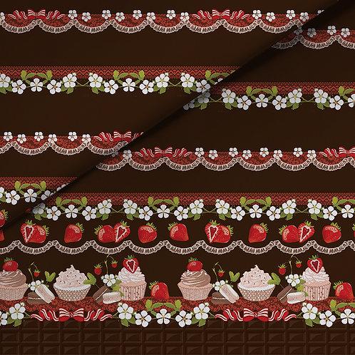 fabric - chocolade strawberries