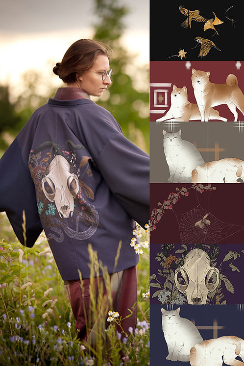 Printed haori (many colors available)