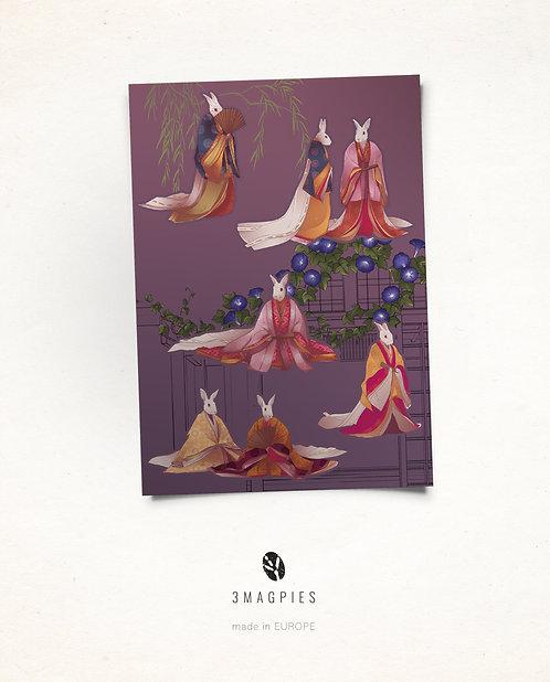 stickers sheet 'Junihotoe rabbits'