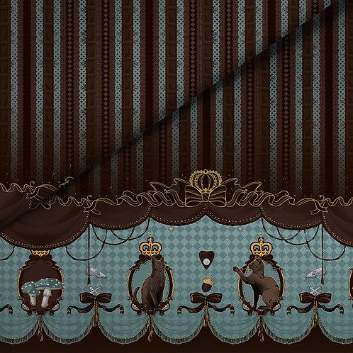 fabric - chocolade cat