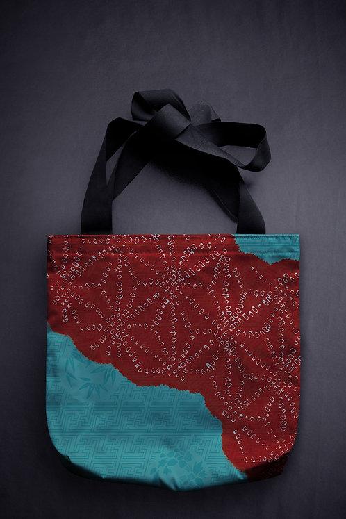 'vintage pattern' canvas bag
