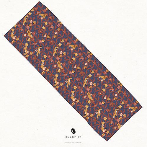 'sakura foxes' chiffon scarf