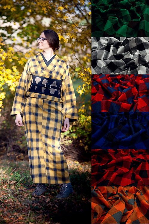 Awase flannel kimono (many colors available)