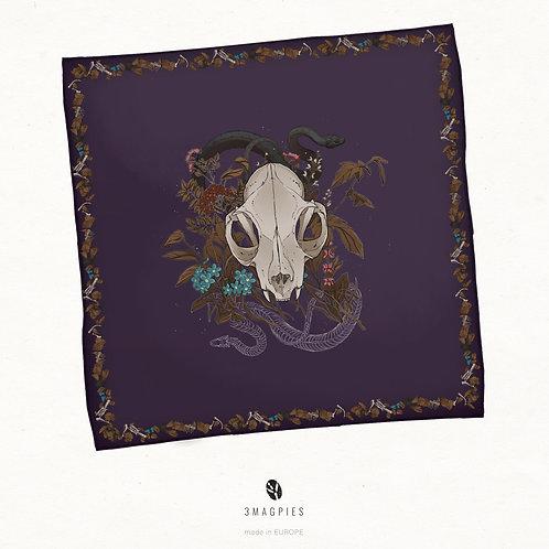 'circle of life' chiffon scarf
