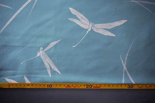 Printed fabric 'dragonflies'
