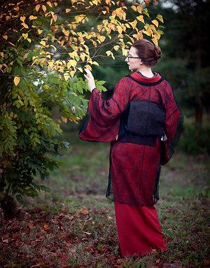 Lace haori / kimono 'spiderweb'
