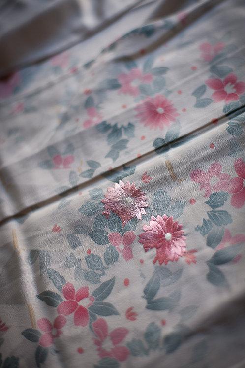 VINTAGE hitoe tsukesage kimono