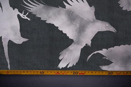 Printed denim / shirt fabric 'ravens'