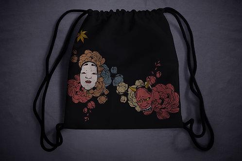 'autumn demons' drawstring backpack