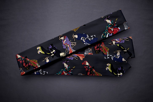 Koshi-himo belt 'modern bijin-ga'