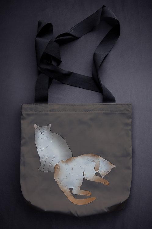 'sleeping cats' canvas bag