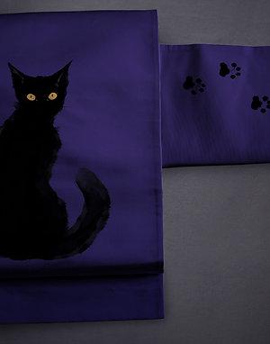 Nagoya/kyobukuro obi 'black cat'