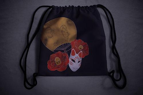 'fox mask' drawstring backpack