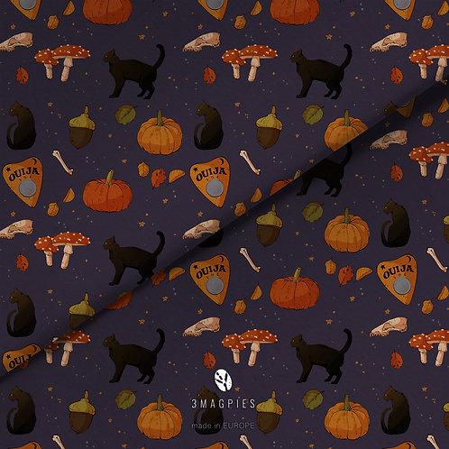 fabric -halloween cats