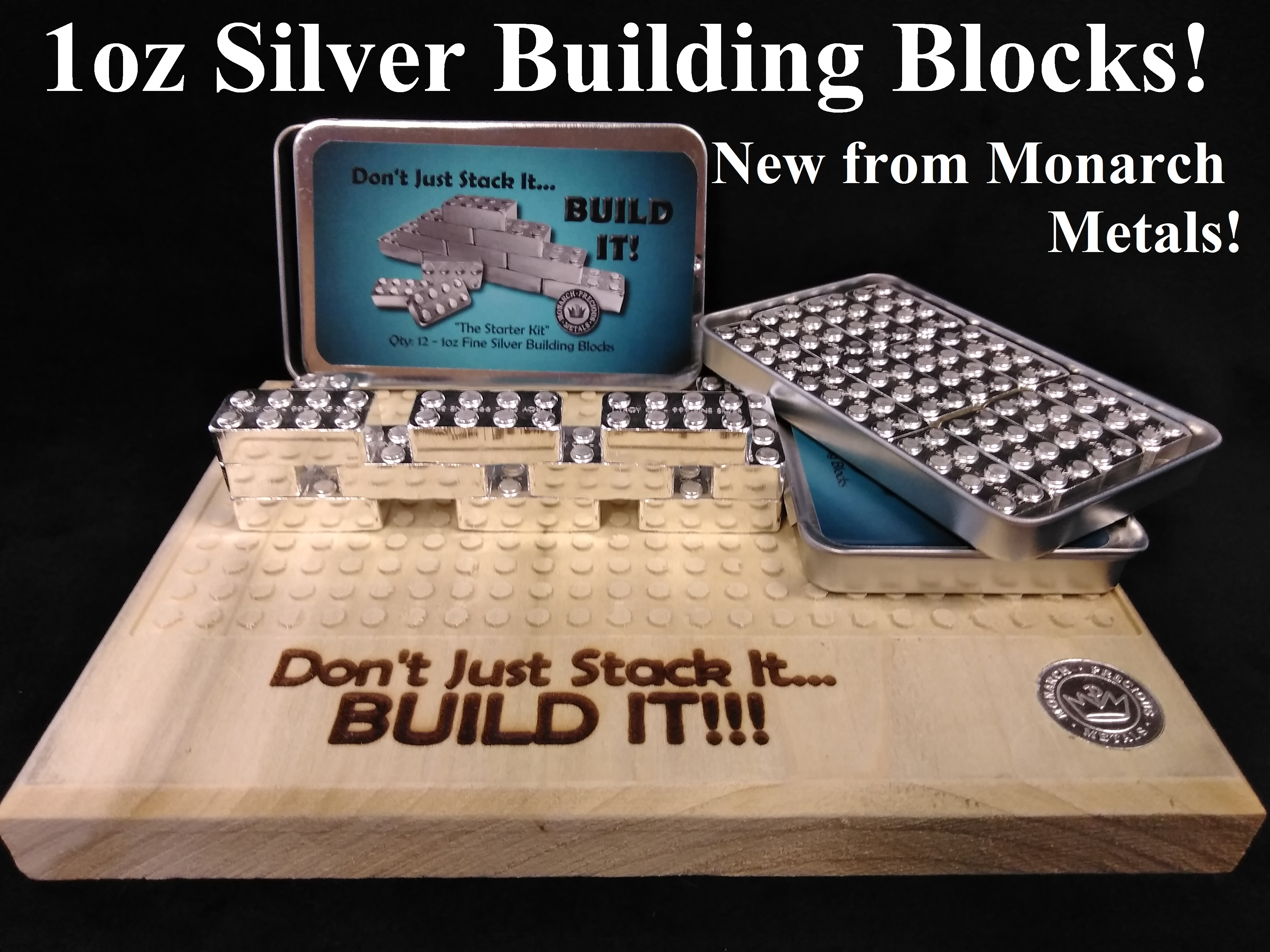 Silver Building Blocks