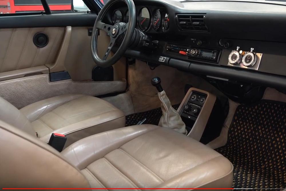 air-cooled Porsche Carrera interior