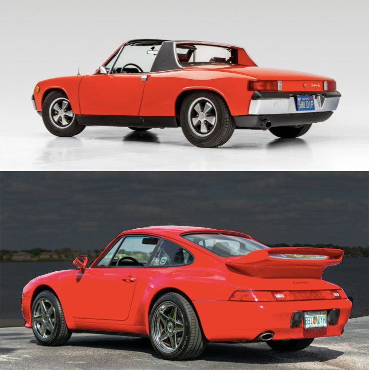 Air-Cooled Porsche 914 and Porsche 993 for sale