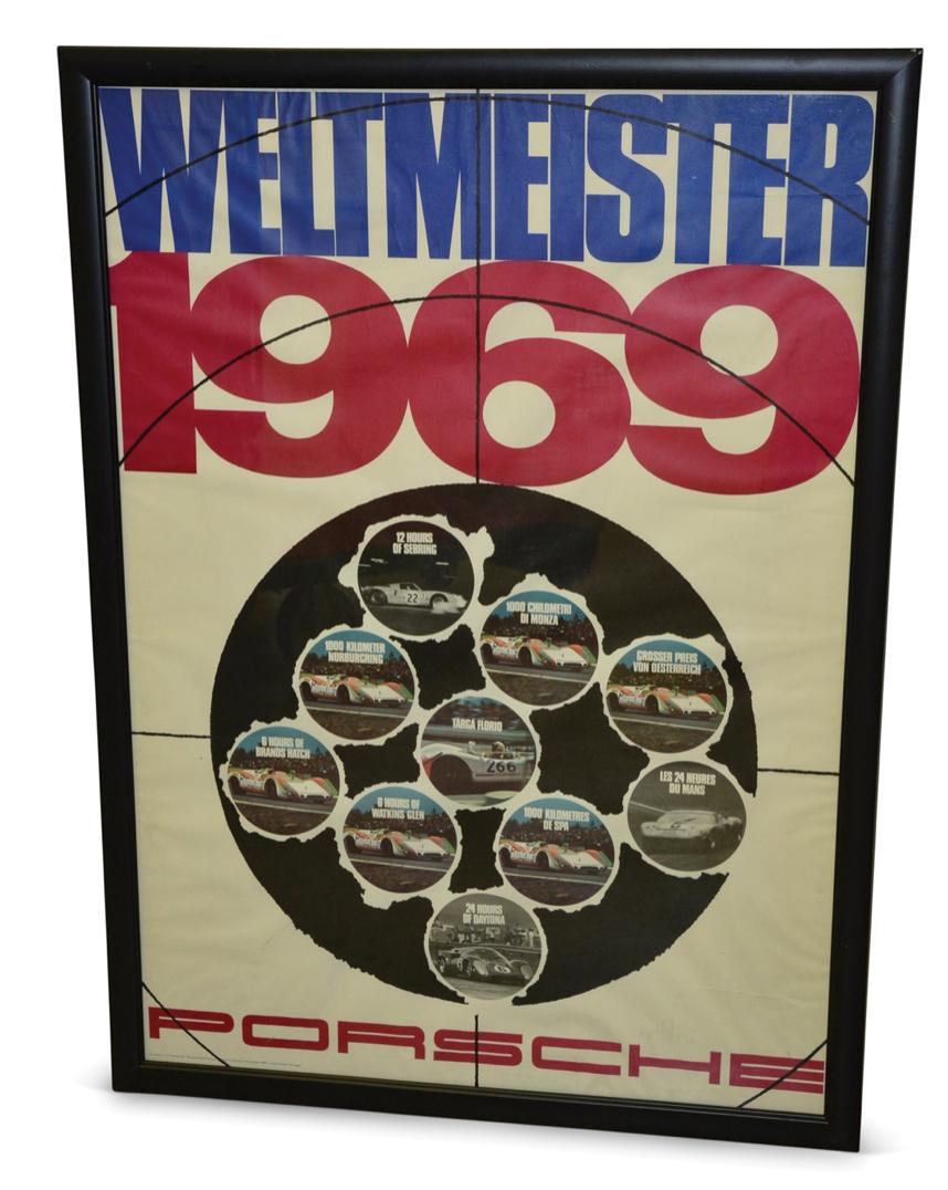Porsche Weltmeister 1969 Poster