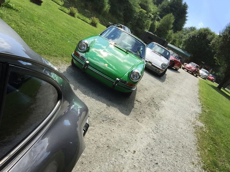 Air Cooled Porsches driving the Blue Ridge
