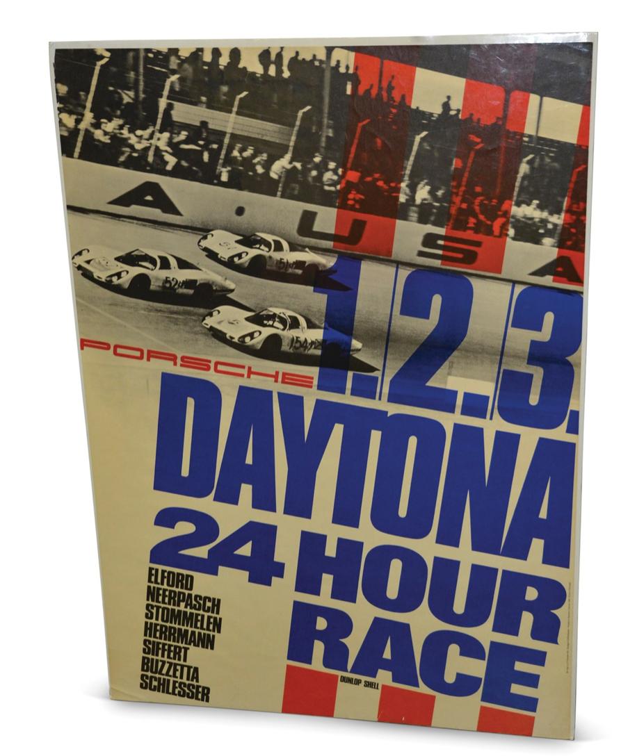 Porsche 24 Hours of Daytona Racing Poster