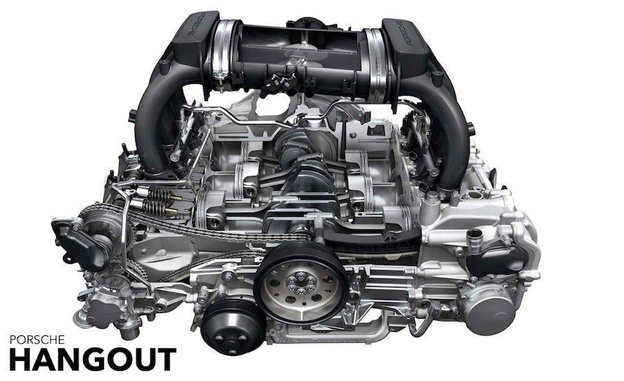 Porsche Boxer Flat-six engine