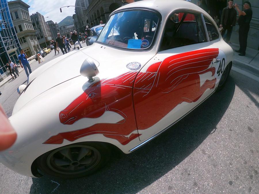 Mobil Oil Pegasus Decal on Porsche 356