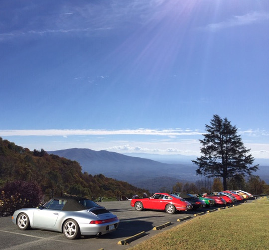 Classic Porsche Drive in Blue Ridge Mountains