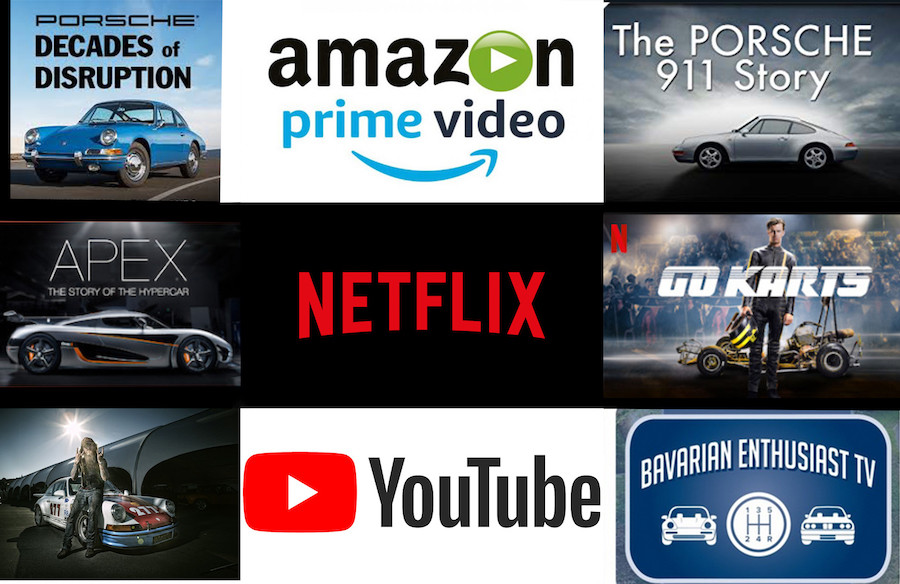 Porsche Movies Netlix, Prime, YouTube