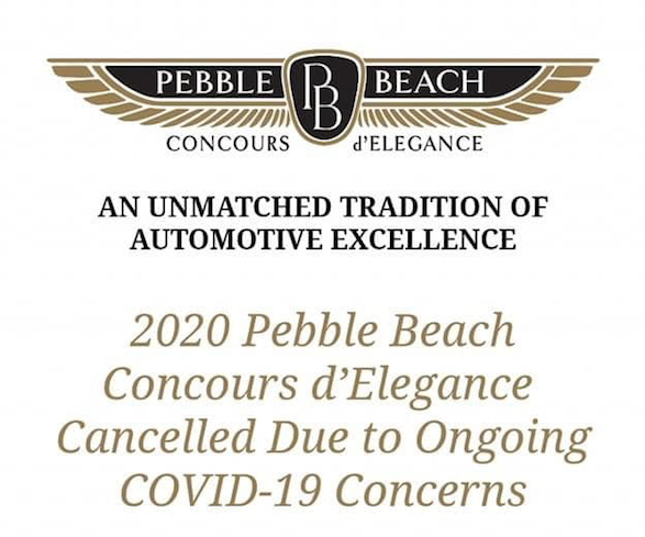 2020 Pebble Beach Concours cancelled
