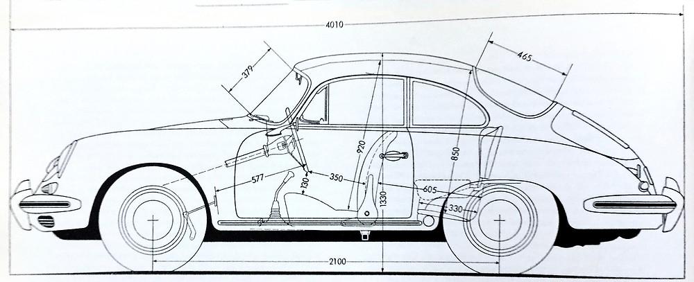 Porsche 356C refined from the Porsche 356B