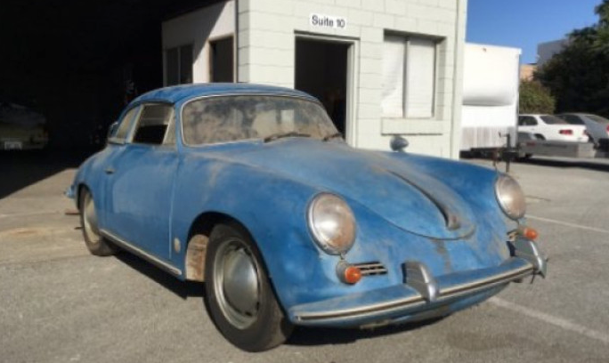 Porsche 356 Cabriolet with factory hardtop