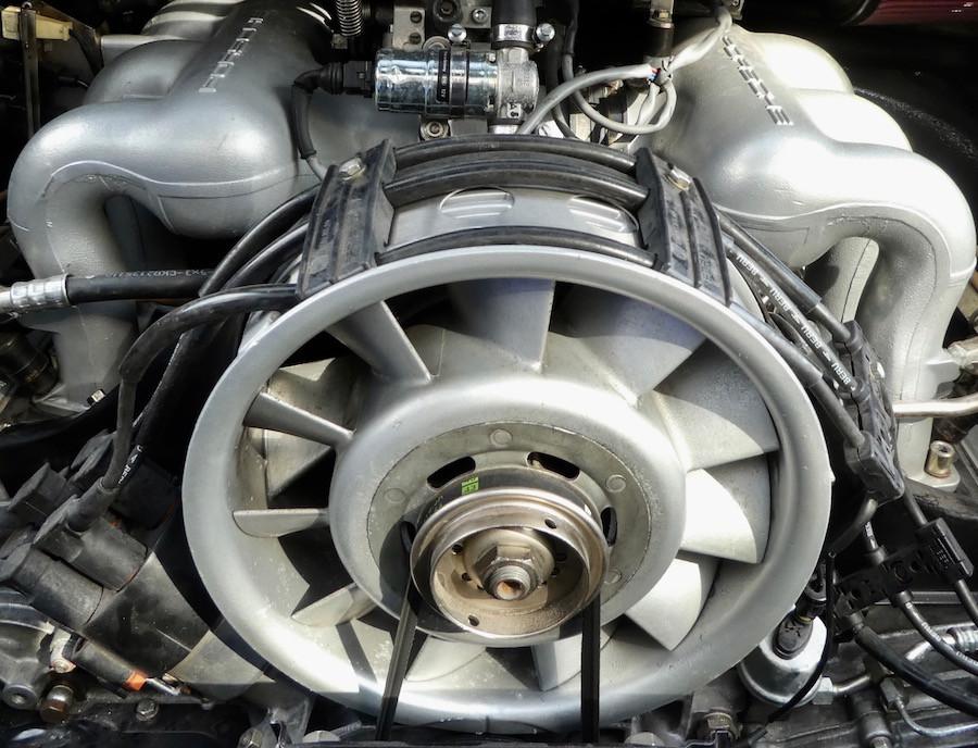 Porsche air-cooled engine fan