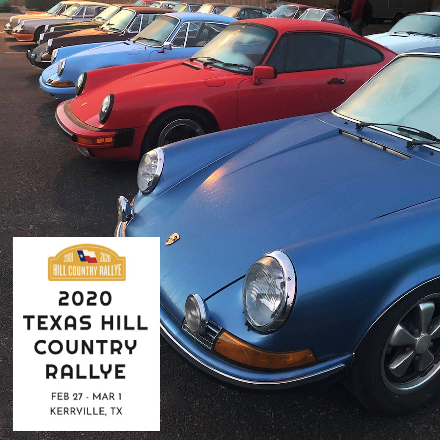Torsion Bar Air-Cooled Porsches at Texas Hill Country Rallye