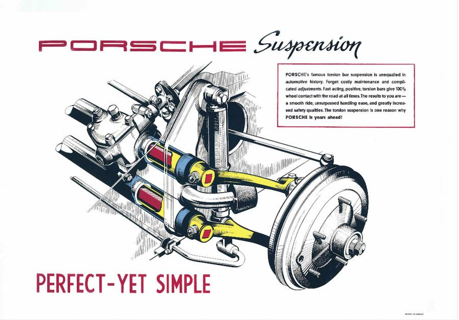 Porsche 356 Torsion bar suspension used in Porsche 911